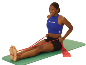 seated row with resistance band  resistance band seated row